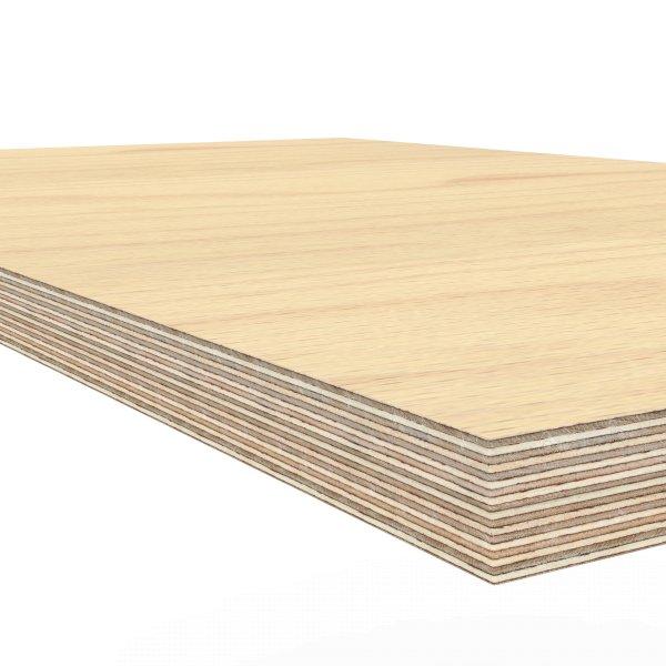 Werkbankplatte 1600 x 750 x 30 mm Multiplex Platte massiv geschliffen + geölt